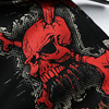 Men's fashion skull print jeans Slim fit colored drawing casual print denim 3