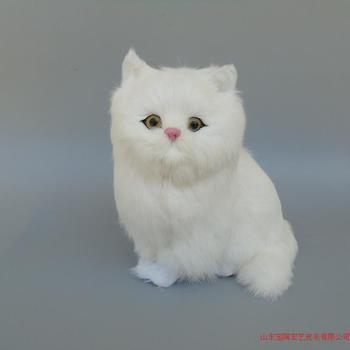 Simulation cat polyethylene&furs cat model funny gift about 24cmx24cm