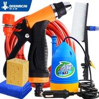 Car Wash 12V Car Washer Gun Pump High Pressure Cleaner Car Care Portable Washing Machine Electric Cleaning Auto Device Brush