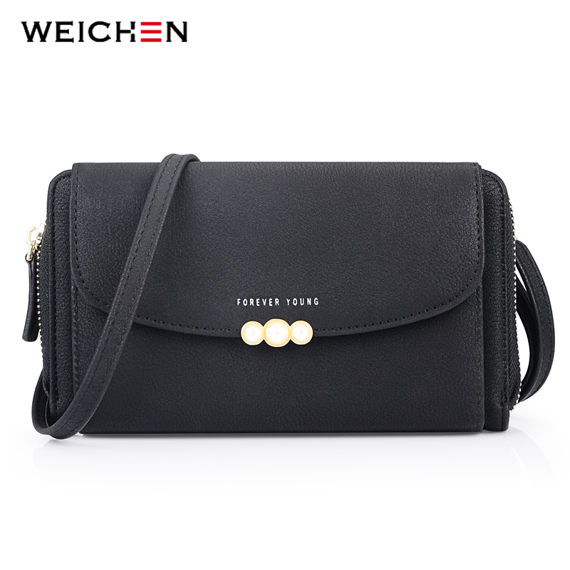 WEICHEN New Designer Women Shoulder Bag Purse Leather Women Messenger Bags Female Clutch Crossbody Bag For Ladies Bolsa Feminina new punk fashion metal tassel pu leather folding envelope bag clutch bag ladies shoulder bag purse crossbody messenger bag