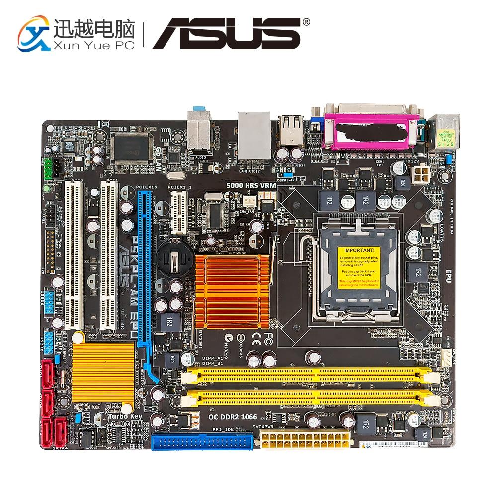 Asus P5KPL-AM EPU Desktop Motherboard G31 Socket LGA 775 DDR2 4G SATA2 USB2.0 uATX asus p5k se epu original used desktop motherboard p35 socket lga 775 ddr2 8g sata2 usb2 0 atx