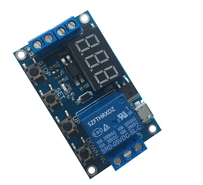 1 Channel 5V Relay Module Time Delay Relay Module Trigger OFF / ON Switch Timing Cycle 999 minutes for Arduino Relay Board Rele 2 channel 5v relay module expansion board for arduino works with official arduino boards