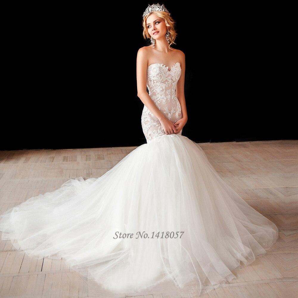 Mermaid Style Wedding Gowns: Greek Style Wedding Gowns Lace Mermaid Wedding Dresses
