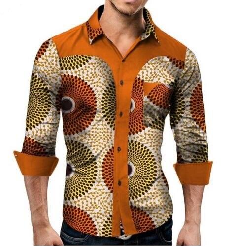 2019 nouvelle mode dashiki hommes africains grande taille chemise M-6XL