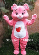 mascot  wholesale lovely pink care bear Mascot Costume Adult Size Cute Care bear Cartoon Character Mascotte Outfit Suit