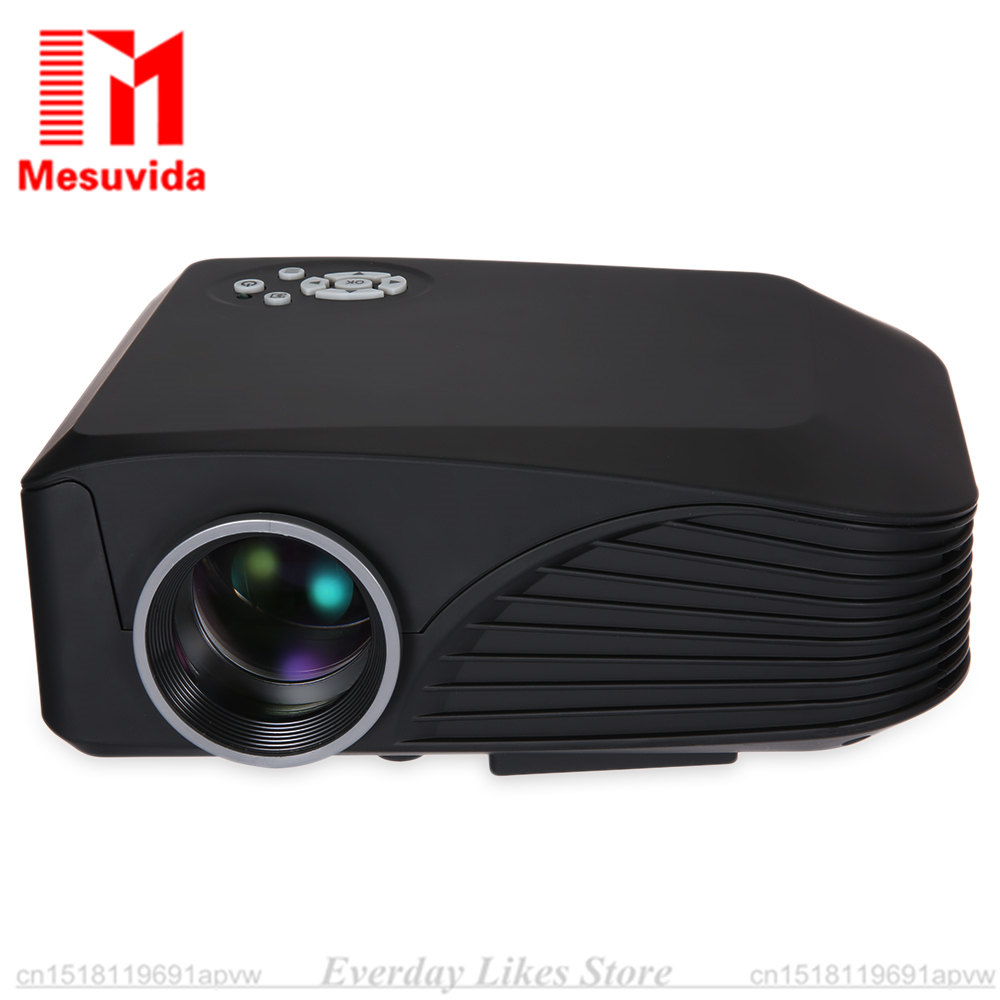 H88 LED Projector 1000 Lumens Projector 1080P Projection Machine with USB HDMI VGA AV Micro SD Slot Remote Controller Mini Cool