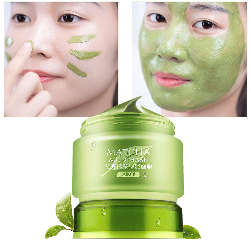 Cleaning Face Mask Mud Matcha Green Facial Masks Remove Blackhead Skin Care Shrink Pores Whitening Oil Control AcneTreatment LQ