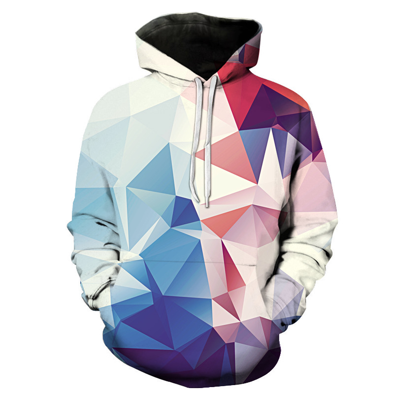 Men and women sports sweater worsted polyester breathable couple printing hoodie training sports sweater large size 4XL