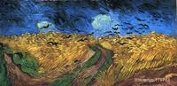 Wheat field with Crows Vincent Van Gogh famous paintings oil canvas reproduction High quality Hand painted