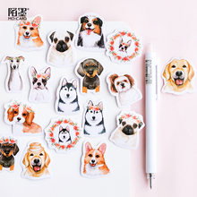 45 stks/partij Leuke Hond Dier Sticker Decoratie DIY Scrapbooking Sticker Briefpapier Kawaii Dagboek Label Sticker(China)