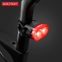 Gaciron W09 B bicycle Smart Rear Brake light USB Rechargeable Safety Warning 60Lumens tail lamp Cycling Accessories