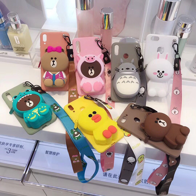 <font><b>3D</b></font> Cartoon Coin Purse Wallet For <font><b>ViVO</b></font> Y51 Y53 2017 Y55 Y66 Y67 <font><b>Y69</b></font> Y75 Y79 Y85 Y83 Y93 Y97 Z3 phone <font><b>Case</b></font> Cover Funda Coque etui image
