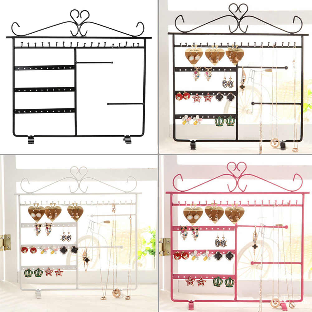 Jewelry Display Necklace Earrings Studs Jewelry Display Storage Hanging Holder Rack Metal Stand Organizer Holder Promotion