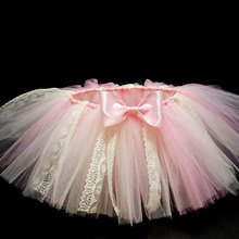 Cute Baby Girls Lace Tutu Skirts Infant Handmade Tulle Ballet Dance Pettiskirts