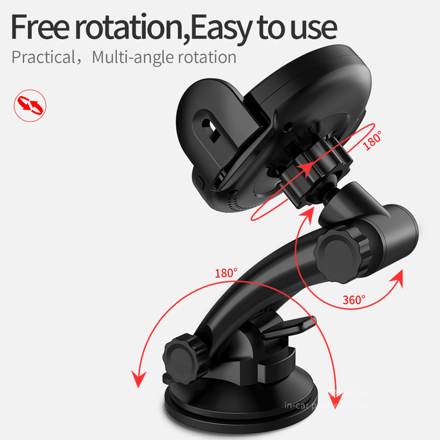 HOCO Car Mount Qi Wireless Fast Charger For iPhone XS Max X XR Car Phone Holder Infrared Auto Sensing For Samsung Note 9 S9 S8