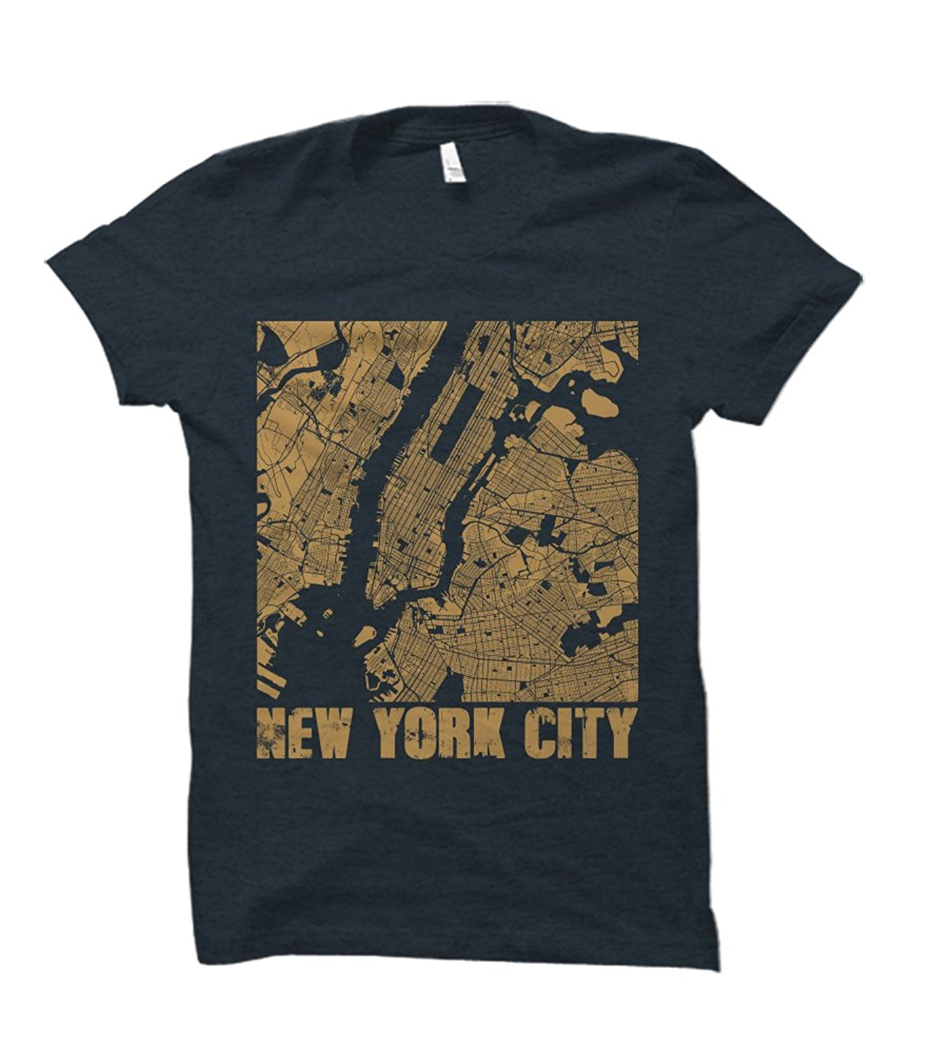Party Explosions New York City Landscape Street Map Adult T-Shirt