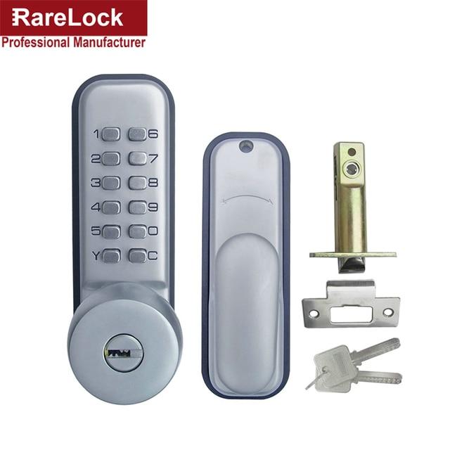 Exceptionnel Rarelock Christmas Supplies Keypad Mechanical Combination Door Handle Lock  With Keys Digital Locks For Office Bedroom