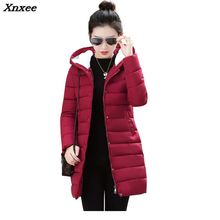 2018 New Winter Jacket Women Long Parkas Winter Down Wadded Jacket Female Cotton-Padded Jacket Warm Thickening Women Winter Coat цена 2017