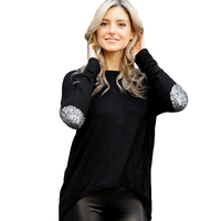 2017 New Fashion Hot Women T Shirt Long Sleeve Autumn and Winter O Neck Long Solid Sexy Party Club Clothing Top Black White