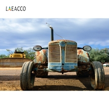 Laeacco Nature Scenic Farm Tractor Countryside Portrait Photography Background Custom Photographic Backdrops For Photo Studio