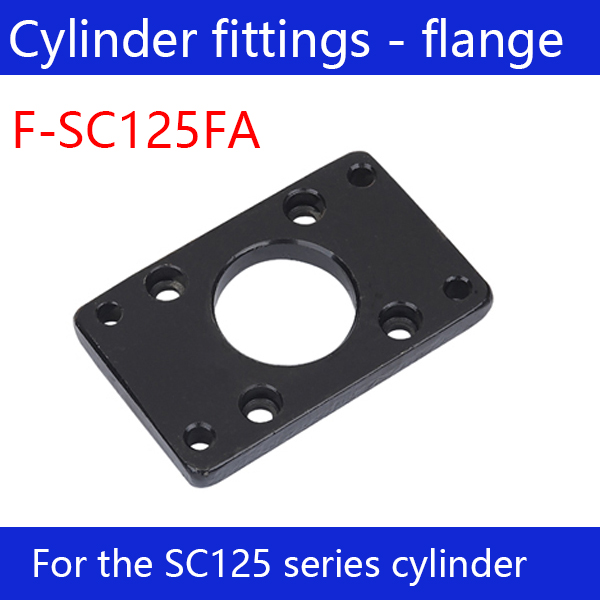 Free shipping Cylinder fittings 2 pcs flange joint F-SC125FA, applicable SC125 standard cylinder kq2zs10 01s kq2zs10 01s fittings kq2zs10 01s pipe joint