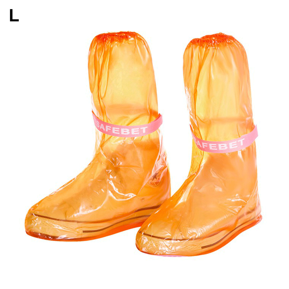PVC Thicken Rainboots Waterproof Reusable Shoe Cover Non-Slip Adult Children Outdoor Overshoes