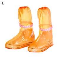 PVC Thicken Rainboots Waterproof Reusable Shoe Cover Non-Slip Adult Children Outdoor Overshoes