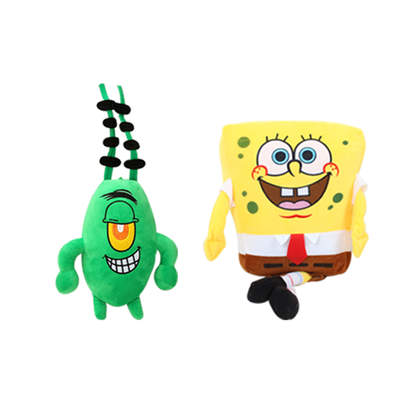 Image 5 - 6pcs/set SpongeBob Plush Toys Kids Cartoon Movie Characters Christmas Birthday Gift Toys Stuffed & Plush Animalsgifts maletoy gaggift printer -