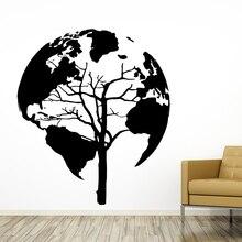 New arrival DIY Vinyl World Map Wall Sticker Tree Pvc sticker for bedroom Decor Pvc Home living room Decoration bubble flower tree pvc waterproof wall sticker