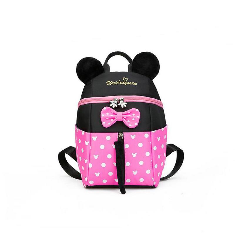 New Kids Bag Kindergarten Children Cartoon Mickey School Bags Pink Minnie Backpack Princess Schoolbags Satchel For Boys Girls