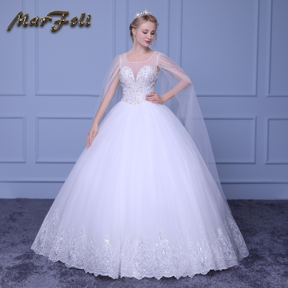 Wedding Gowns For Less: Marfoli New Arrival Fashion Special V Neck Bridal Gown