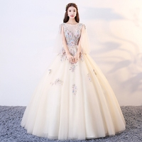 Floor length Quinceanera Dresses Champagne Girl Vestidos De 15 Anos Beads Debutante Ball Gown Sweet Sixteen Custom Dress
