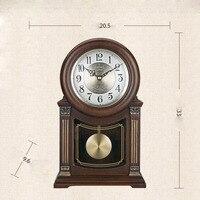 Ретро твердой древесины часы украшения Гостиная Ретро немой часы китайский Стиль Винтаж МАЯТНИК Часы крупные украшения маятник