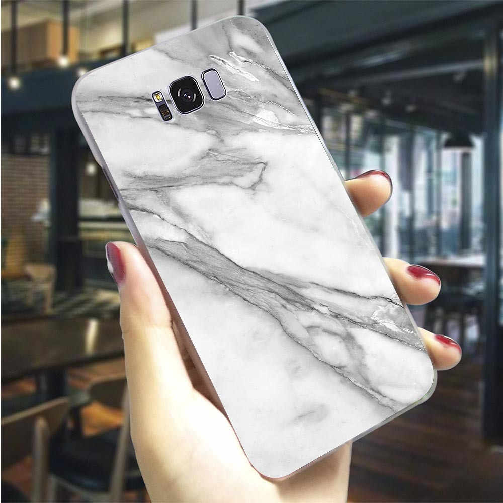 Hard Cover for Galaxy A10 Pure Marble Case for Samsung A5 Cover A3 A6 Plus A7 A8 A9 A20 A30 A40 A50 A70 Cases Back Protective