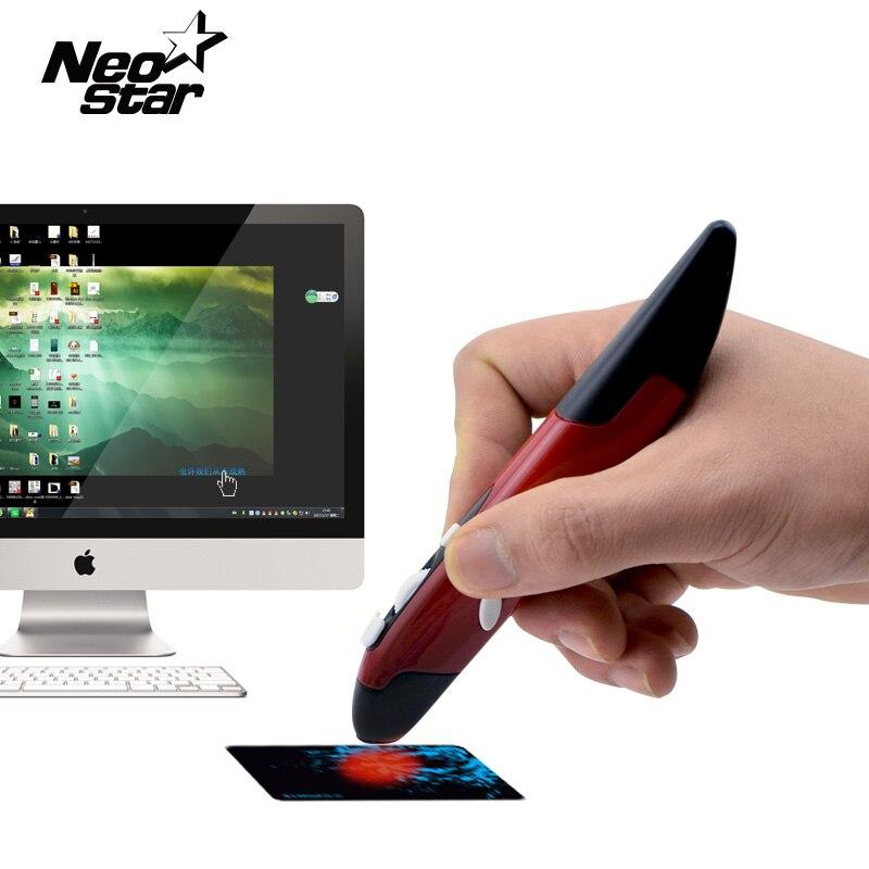 2 in 1 Mini Wireless USB Optical Pen Mouse Laser Pointer Adjustable 500/1000DPI for PC Laptop Desktop PPT
