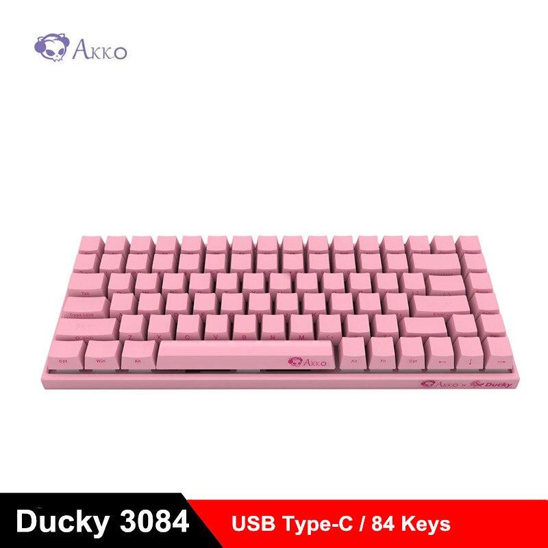 AKKO Ducky 3084 clavier mécanique Cherry MX commutateur Compact 84 touches filaire USB type-c pour jeu côté lettre sculpté Design