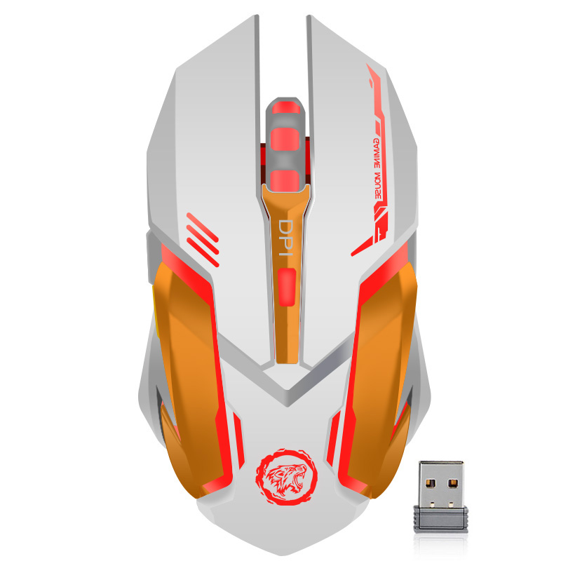 Rechargeable Wireless Gaming Mouse 3200 DPI Adjustable 7 Color Backlight Breathing Gamer Mouse Game Mice for PC Laptop ...