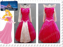 Adult Sleeping Beauty Anime Cosplay Costume Princess Aurora Ballerina Women Party Long Dress Ball Gown