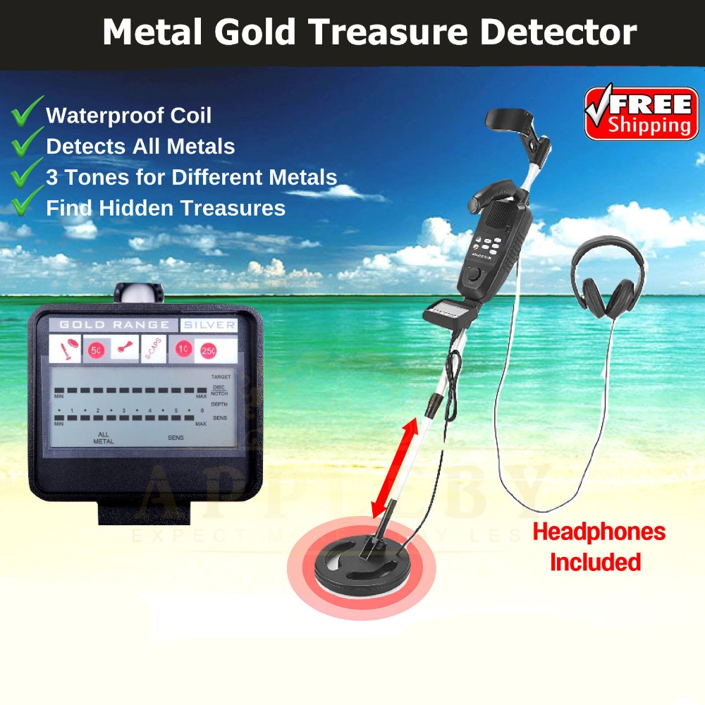 Underground Metal Detector High Sensitivity LCD Screen Gold Treasure Hunter Finder Sensor LCD Waterproof With Headphone 2018 best headphone for underground metal detector gold finder t2 g m t