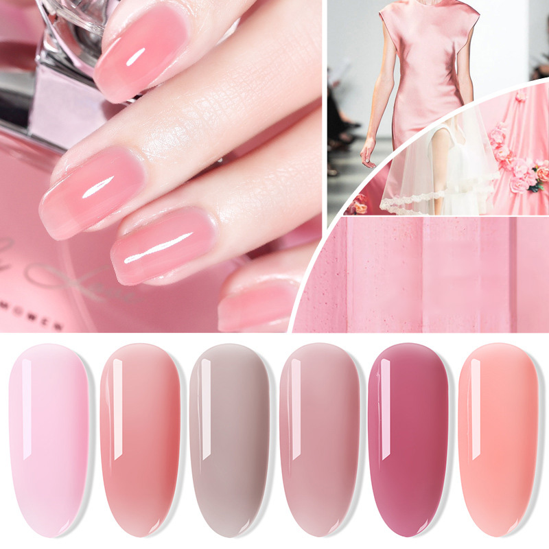 Aliexpress.com : Buy 2018 Jelly Nail Gel Nude Transparent Pink Nude ...