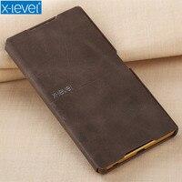 X-Level Case Do Sony Xperia Z5 PU Biznes Sprawach Telefonów luksusowe Pokrywa Dla Sony Z5 Premium Eleganckie Klapki Przypadku Równinie akcesoria