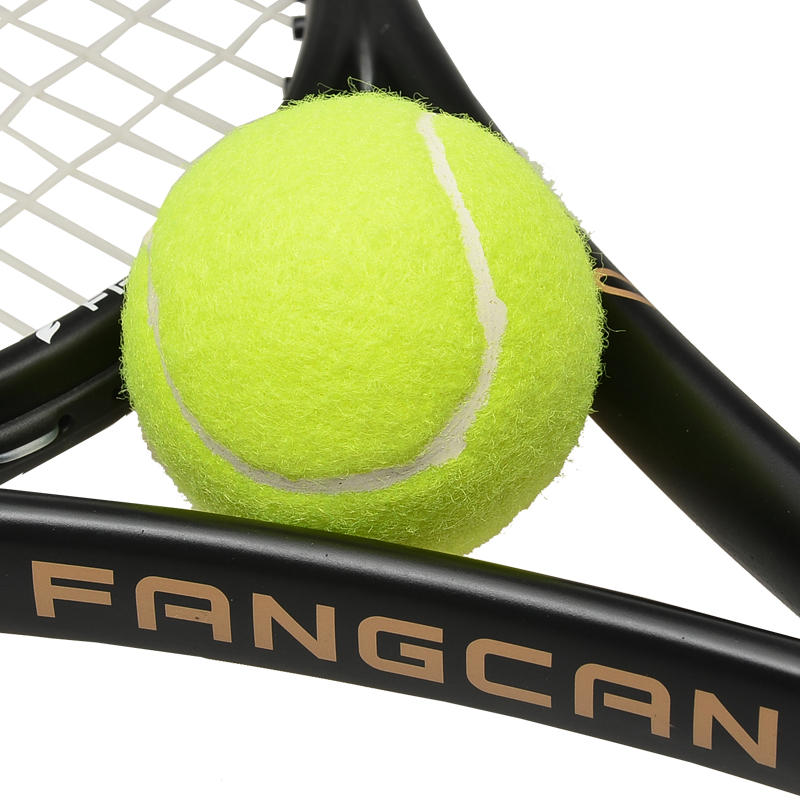 1 pezzo FANGCAN Training Tennis Ball 65mm Good Rebounce Standard Balls Training per principianti