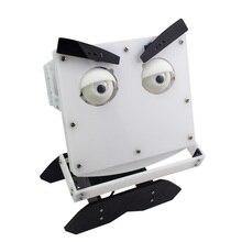 Подвижная головка робота/робот-выразитель/акриловый материал/DIY Обучающий набор для лица робота