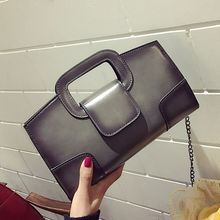 Miyahouse England Style Shoulder Bag With Chain For Female PU Leather Messenger Bag For Women Solid Color Crossbody Bag Lady