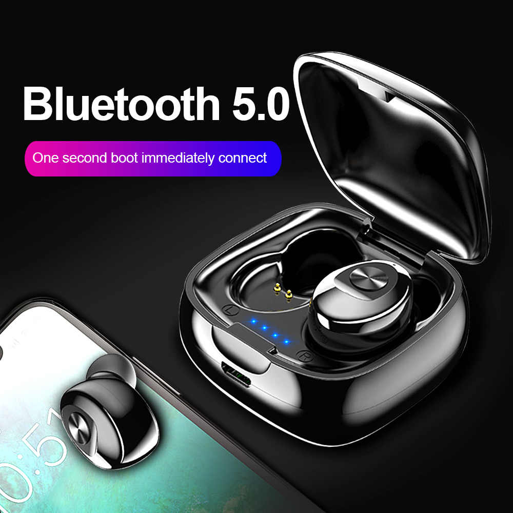 TWS Bluetooth 5.0 Earphone Wireless Headphone True Wireless Stereo Earbuds HIFI Sport Earphones Handsfree with Mic for Phone