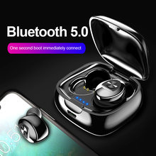 TWS Bluetooth 5.0 Earphone Wireless Headphone True Wireless Stereo Earbuds HIFI Sport Earphones Handsfree with Mic for Phone(China)