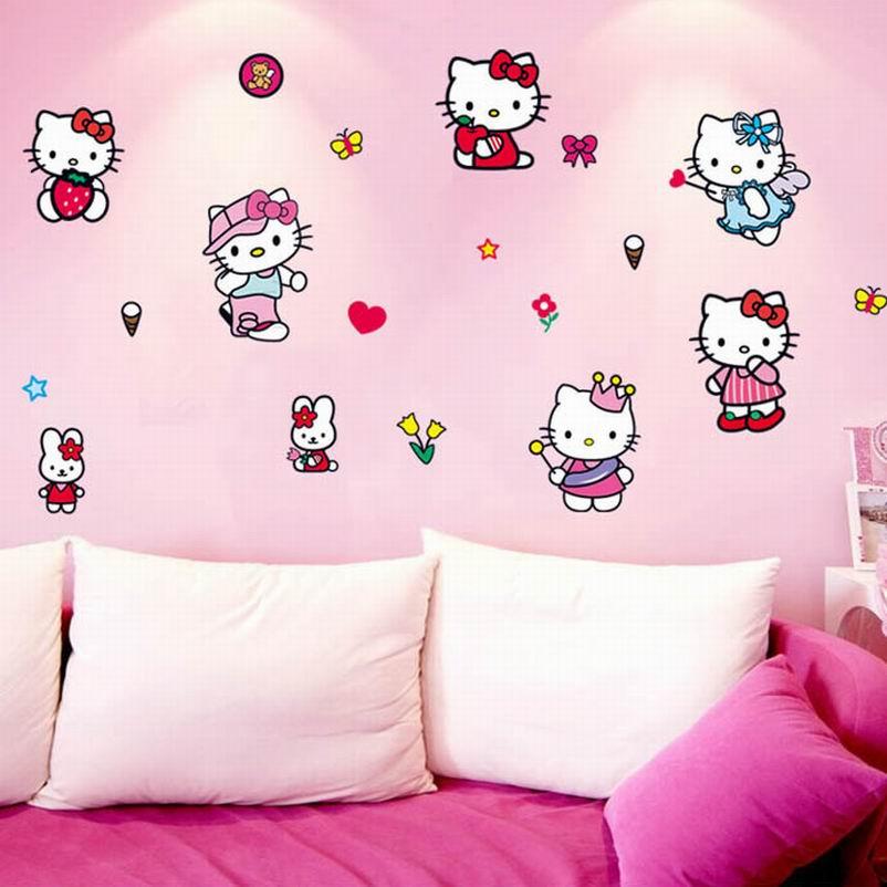Hello Kitty Home Decor: Cute Hello Kitty Cat Vinyl Removable Home Decor Decoration