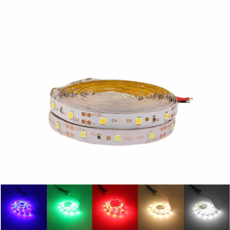 3 M 5 M Secara Individual Addressable RGB LED Strip Lampu Neon 2835 Pita LED Fleksibel Pita Auto Adaptor 12 V DC Konektor untuk Kitche