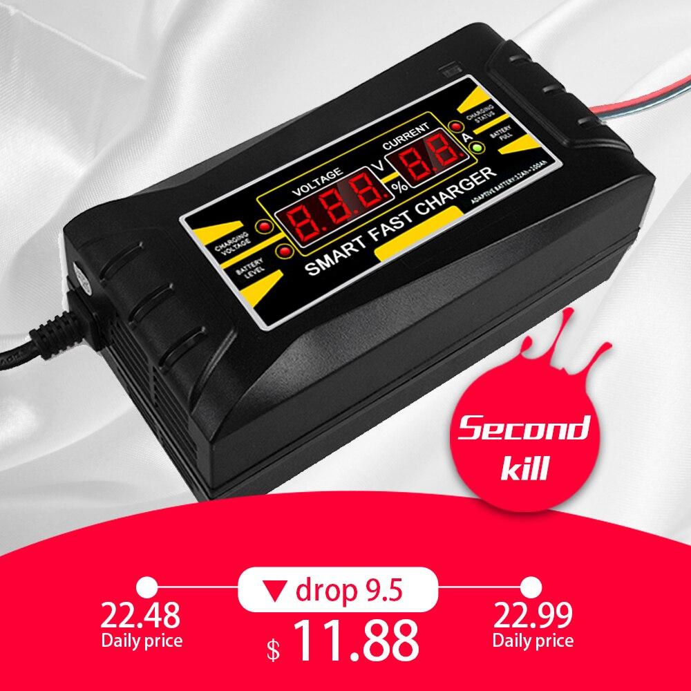 Volle Automatische Auto Batterie Ladegerät 110 v/220 v Zu 12 v 6A Smart Schnelle Power Lade Geeignet für auto motorrad Mit EU/Us-stecker