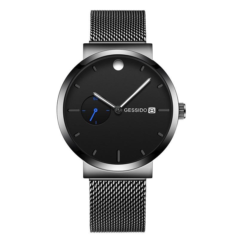 Mens Watches Top Brand Luxury Quartz watch simple waterproof luminous Steel Waterproof Sport Wristwatch Relogio Masculino in Quartz Watches from Watches